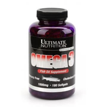 Omega 3 180 гелевых капсул Ultimate Nutrition