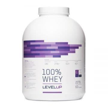 100% Whey 2270 г + глютамин 240 г в подарок Level Up