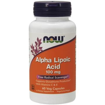 Alpha Lipoic Acid 100 мг 60 вег. капсул NOW
