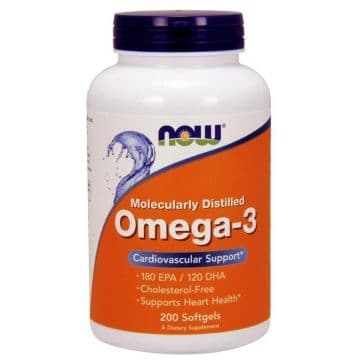 Omega-3 200 капс. NOW Foods
