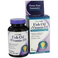 Fush oil + Vitamin D3 90 капс. Natrol