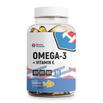 Omega-3 (Рыбный жир) + Vitamin E 65% 90 капс. Fitness Formula