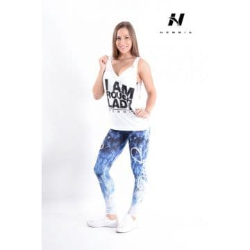 NEBBIA, 882, ART LEGGINGS, BLUE