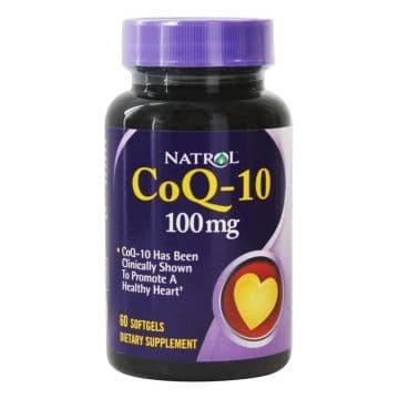 CoQ-10 100 мг 60 гелевых капсул Natrol
