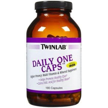 Витамины без железа Twinlab Daily One Caps W/O Iron W/FloraGlo 180 капсул