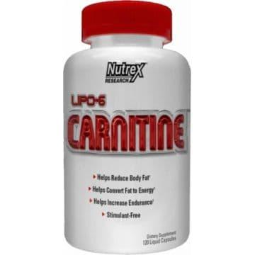 Lipo 6 L-карнитин 120 капсул (90000 мг Л-карнитина на упаковку)