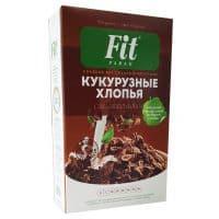 Кукурузные хлопья с шоколадом 200 г (коробка) Fit-Parad