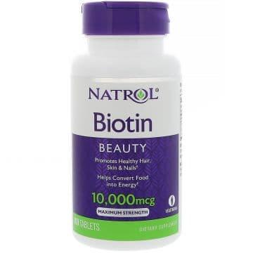 Biotin 10,000 mcg 100 таблеток Natrol