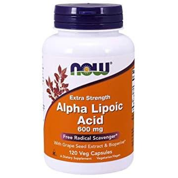 Alpha Lipoic Acid 600 мг 120 вег. капсул NOW