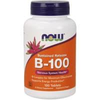 B-100 100 таблеток длительного высвобождения NoW Foods