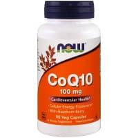 CoQ10 100 мг 90 вег. капс. NOW Foods