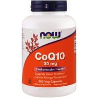 CoQ10 30 мг 240 вег. капс. NOW Foods