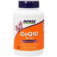 CoQ10 60 мг 180 вег. капс. NOW Foods