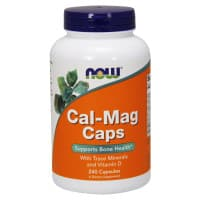 Cal-Mag Caps with minerals + D3 240 капс. NOW Foods