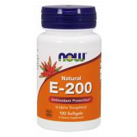 E-200 Da 100 гел капс NOW Foods