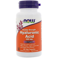 Hyaluronic Acid 100 mg 2x Plus 60 капсул MOW Foods