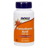 Pantothenic Acid 500 мг 100 капсул NOW Foods