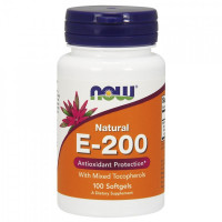 E-200 MIXED TOC 100 гел. капс. NOW Foods