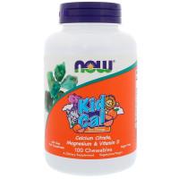 Kid Calcium Chewable 100 леденцов NOW Foods