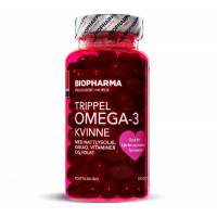 Омега-3 для женщин Trippel Omega-3 Kvinne 120 капсул Biopharma