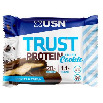 Протеиновое печенье TRUST Filled Protein Cookie 75 г USN