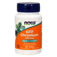 GTF CHROMIUM 200 мкг 100 таблеток NOW Foods