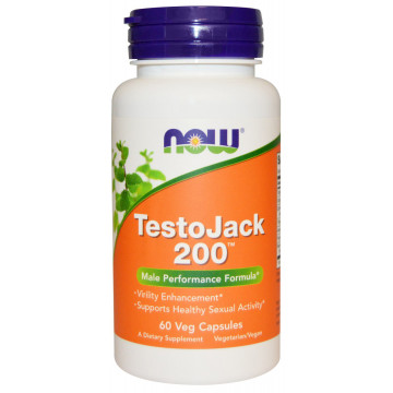 TestoJack 200 60 вег. капсул NOW Foods