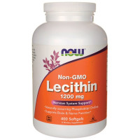 Lecithin 1200 мг 400 гелевых капсул NOW Foods
