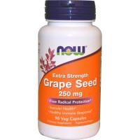 Grape Seed, Экстракт Виноградных Косточек 250 мг - 90 вег. капсул NOW Foods