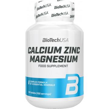 Мультиминералы BioTechUSA Calcium Zinc Magnesium (100 таблеток)