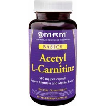Ацетил L-карнитин (Alcar) 60 растительных капсул по 500 мг карнитина MRM
