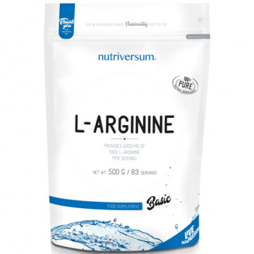 Pure L-arginine 500 г Nutriversum