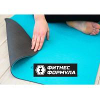 Коврик для йоги 183х61х1 см 2-х слойный Fitness Formula