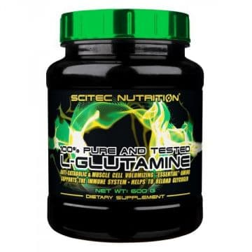 100% LGlutamine (Л-Глютамин) 600 грамм (100 порций-6000мг в порции) без вкуса