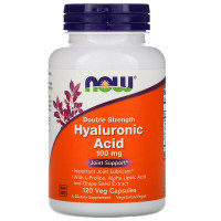 Hyaluronic Acid 100 mg 2x Plus 120 капсул NOW Foods