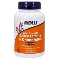Glucosamine & Chondroitin 2X 750/600 мг 60 таблеток Now Foods