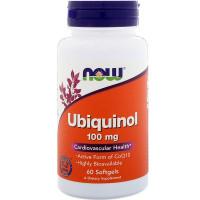 Ubiquinol, Убихинол 100 мг - 60 капсул Now Foods