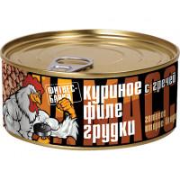 Куриное филе грудки с гречей 325 грамм Фитнес банки