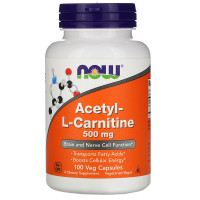 Acetyl-L-Carnitine 500 mg (100 кап) NOW Foods