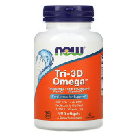 TRI-3D OMEGA 90 капсул NOW Foods