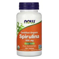 Organic Spirulina 500 мг 100 табл. NOW Foods