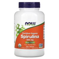 Organic Spirulina 500 мг 500 табл. NOW Foods