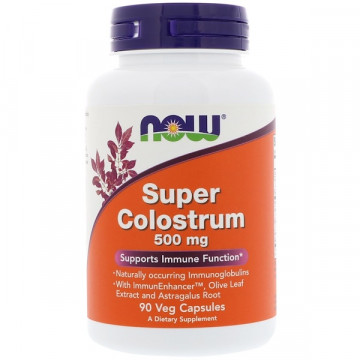 Super Colostrum 500 мг 90 капсул NOW Foods