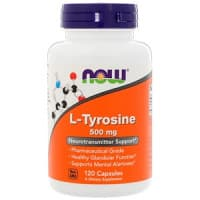 L-Tyrosine 500 мг 120 капсул NOW Foods