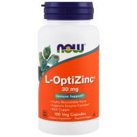 L-OptiZinc 30 мг 100 капсул NOW FOODS