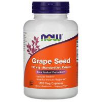 Grape Seed, Экстракт Виноградных Косточек 100 мг - 200 капсул NOW Foods